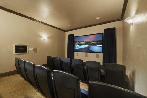 Movie Room at Camden Shadow Brook apartments in Austin, TX
