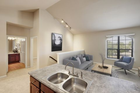 Loft floor plan at Camden Shadow Brook apartments in Austin, TX