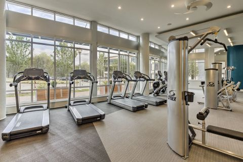 Fitness Center at Camden Shady Grove Apartments in Rockville, MD