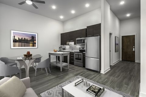Gourmet Kitchen with Stainless Steel Appliances at Camden Shady Grove Apartments in Rockville, MD