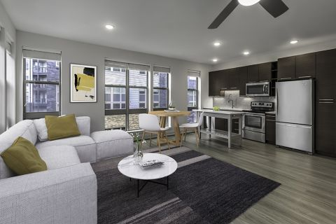Open-Concept Floor Plan with Gourmet Kitchen at Camden Shady Grove Apartments in Rockville, MD