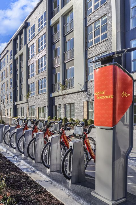 Capital Bike Share nearby Camden Shady Grove Apartments in Rockville, MD