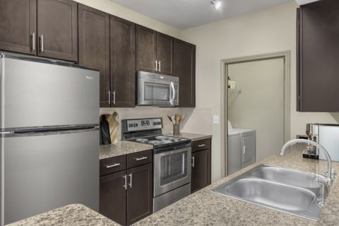 Kitchen at Camden Shiloh apartments in Kennesaw, GA