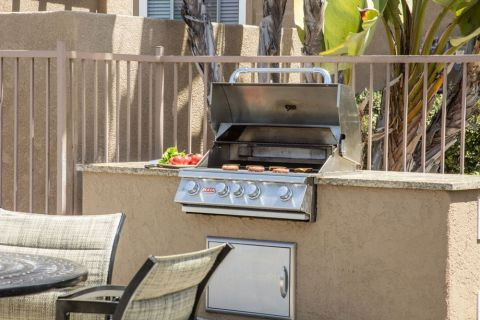 Poolside BBQ Grilling Stations at Camden Sierra at Otay Ranch Apartments in Chula Vista, CA