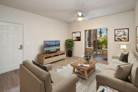 Living Room at Camden Sierra at Otay Ranch Apartments in Chula Vista, CA