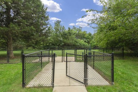 Dog park at Camden Silo Creek Apartments in Ashburn, VA