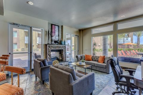 Resident Lounge at Camden Sotelo Apartments in Tempe, AZ