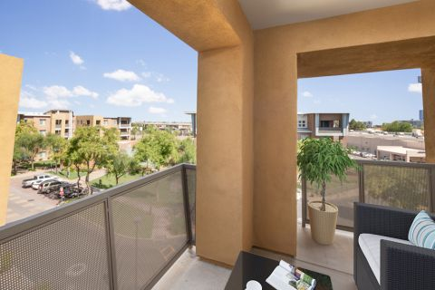 Penthouse Balcony at Camden Sotelo Apartments in Tempe, Arizona