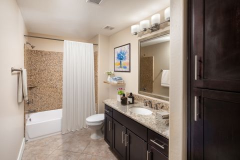 Penthouse Bathroom at Camden Sotelo Apartments in Tempe, Arizona