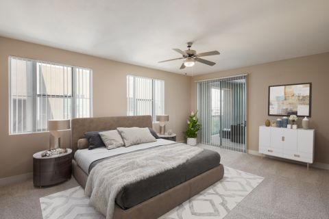 Second Penthouse Bedroom at Camden Sotelo Apartments in Tempe, Arizona