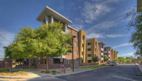 Exterior of Building at Camden Sotelo Apartments in Tempe, AZ