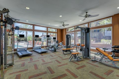 Fitness Center at Camden Sotelo Apartments in Tempe, AZ