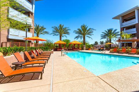 Pool at Camden Sotelo Apartments in Tempe, AZ