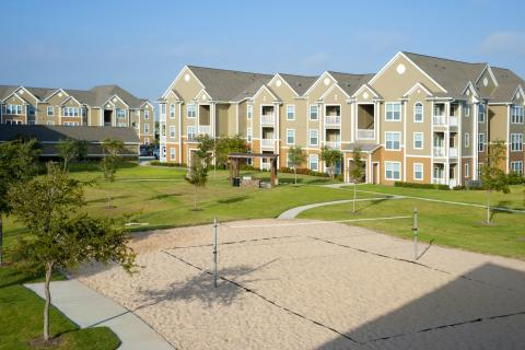 Sand Volleyball Court at Camden South Bay Apartments in Corpus Christi, TX