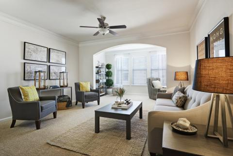 Living Room at Camden South Bay Apartments in Corpus Christi, TX