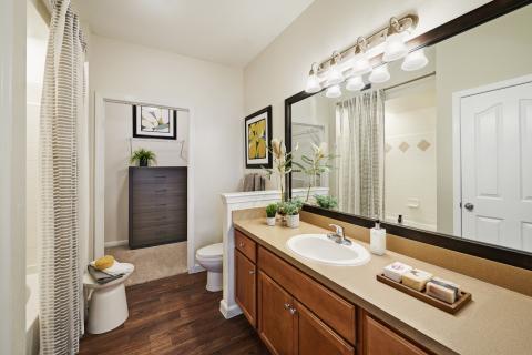 Bathroom with Garden Tub at Camden South Bay Apartments in Corpus Christi, TX