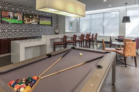 Resident Gaming Lounge with Pool Table at Camden South Capitol Apartments in Washington, DC
