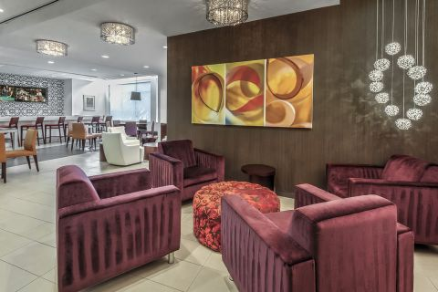 Resident Lounge with Kitchen at Camden South Capitol Apartments in Washington, DC