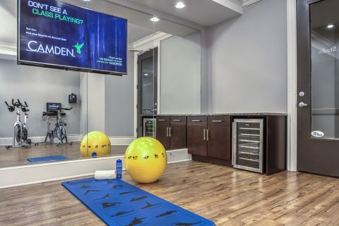 Yoga and Spin Studio with Virtual Trainer at Camden South End Apartments in Charlotte, NC