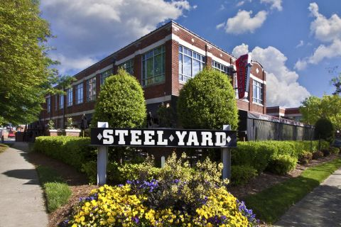 Steel Yard shopping and dining near Camden South End Apartments in Charlotte, NC