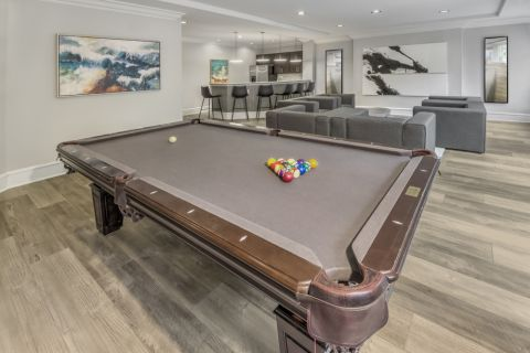 Resident Lounge with Billiards at Camden South End Apartments in Charlotte, NC