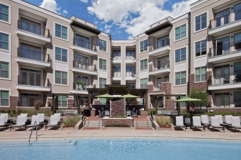 Pool at Camden Southline apartments in Charlotte, NC