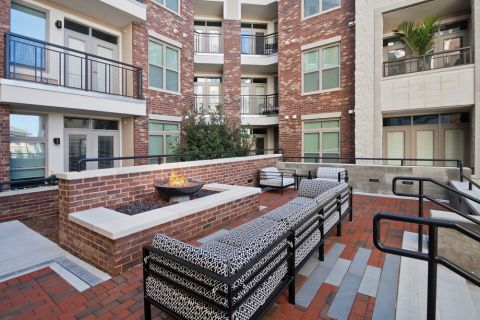 Outdoor Fire Pit at Camden Southline apartments in Charlotte, NC