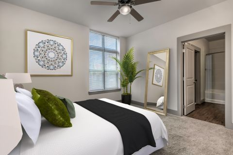 Bedroom at Camden Southline apartments in Charlotte, NC