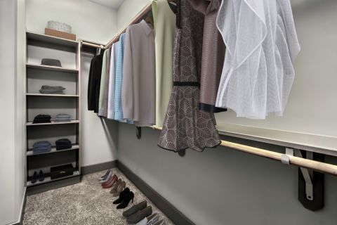 Walk-In Closet at Camden Southline apartments in Charlotte, NC