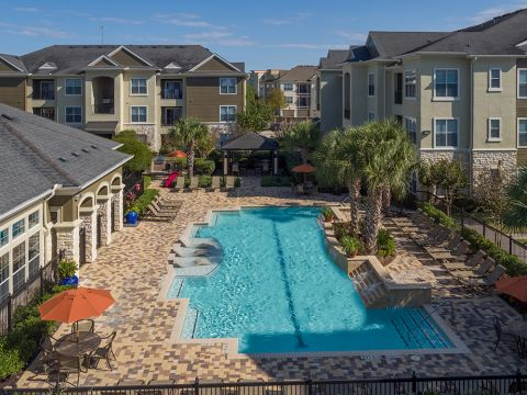 Resort-Style Swimming Pool with Wi-Fi at Camden Spring Creek Apartments in Spring and The Woodlands, TX