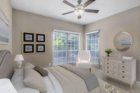 Bedroom at Camden St. Clair Apartments in Atlanta, GA
