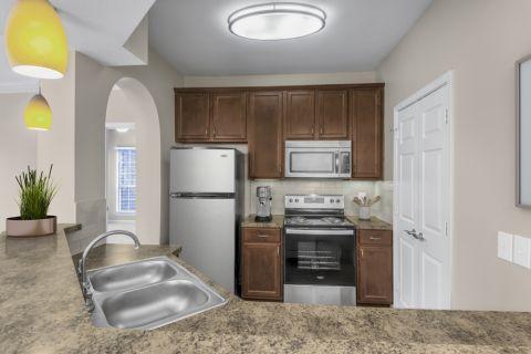 Kitchen at Camden St. Clair Apartments in Atlanta, GA