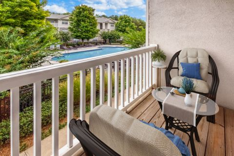 Balcony at Camden Stockbridge Apartments in Stockbridge, GA