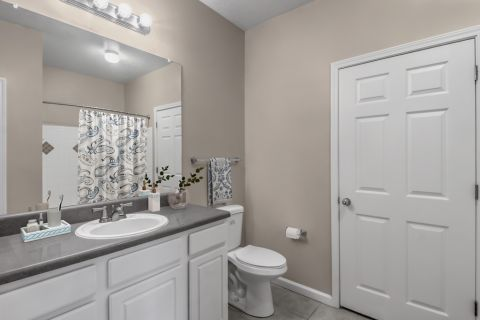 Bathroom at Camden Stockbridge Apartments in Stockbridge, GA