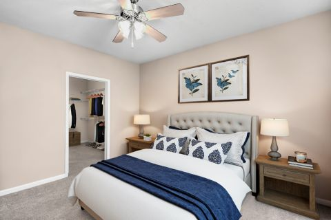 Bedroom at Camden Stockbridge Apartments in Stockbridge, GA