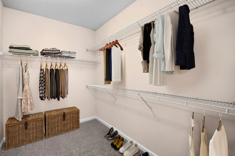 Closet at Camden Stockbridge Apartments in Stockbridge, GA