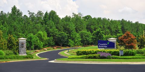 Scenic Trail Welcome at Camden Stockbridge Apartments in Stockbridge, GA