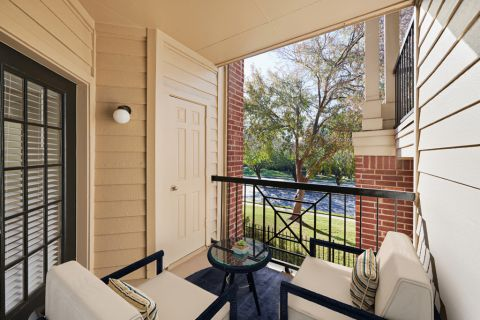 Balcony at Camden Stonebridge Apartments in Houston, TX