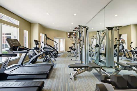 Fitness Center at Camden Stonebridge Apartments in Houston, TX
