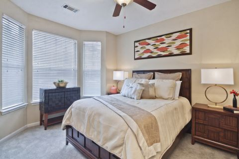 Bedroom at Camden Stonecrest Apartments in Charlotte, NC