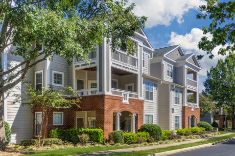 Patios and Balconies at Camden Stonecrest Apartments in Charlotte, NC