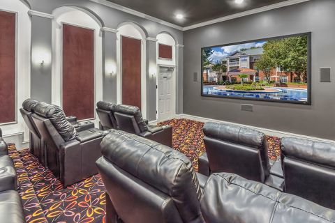 Media Room at Camden Stonecrest Apartments in Charlotte, NC