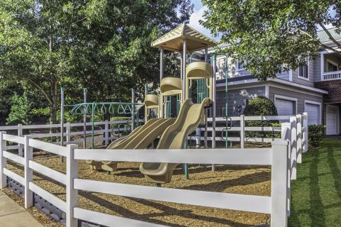 Private Gated Playground at Camden Stonecrest Apartments in Charlotte, NC
