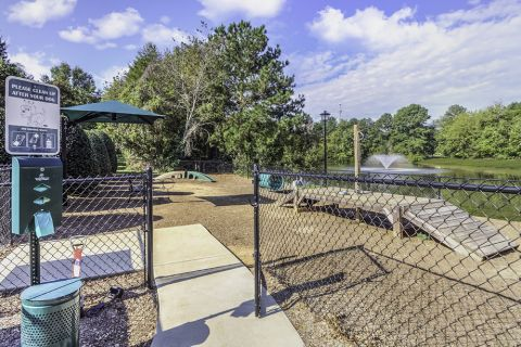Private Gated Bark Park at Camden Stonecrest Apartments in Charlotte, NC