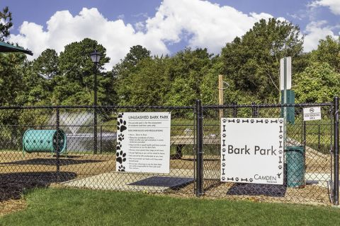 Unleashed Bark Park at Camden Stonecrest Apartments in Charlotte, NC