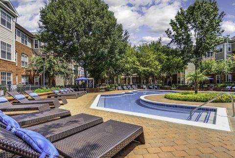 Resort-Style Pool with Deck at Camden Stonecrest Apartments in Charlotte, NC