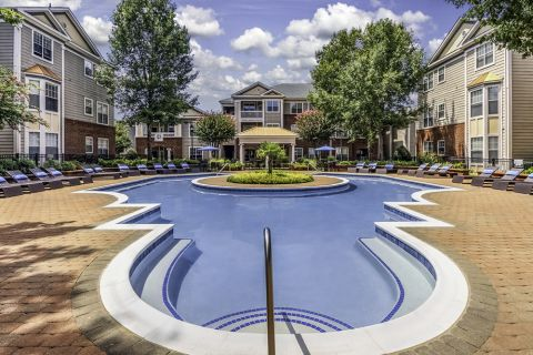 Swimming Pool at Camden Stonecrest Apartments in Charlotte, NC