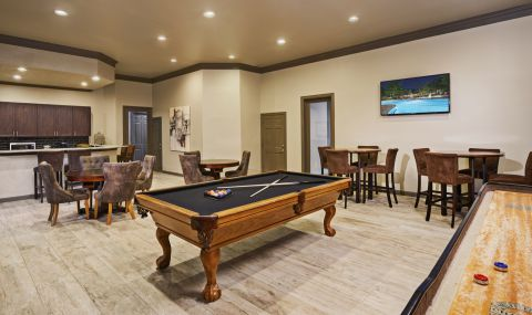 Game Lounge at Camden Stoneleigh Apartments in Austin, TX