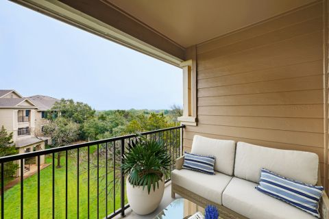 Balcony at Camden Stoneleigh Apartments in Austin, TX