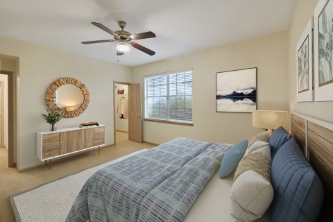 Bedroom at Camden Stoneleigh Apartments in Austin, TX